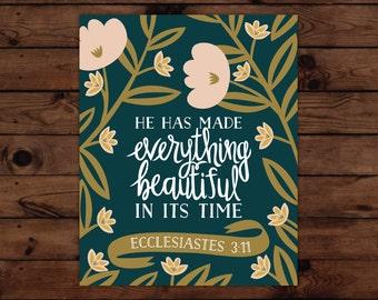 Ecclesiastes 3:11 Print