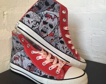 Zombie Converse style Hi-Tops trainers shoes