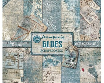 Blues by Stamperia-12x12 Patterned Papers