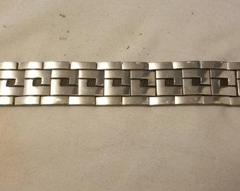 Vintage 9.25 Sterling Silver Mexico 141.6 Grams Bracelet