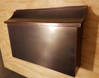 Large Patina  Copper Mailbox