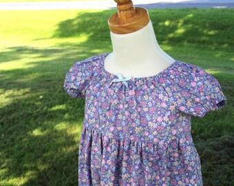 Calico Peasant Dress Sizes 1-8