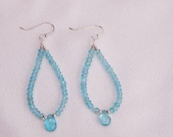 Beautiful Apatite Dangle Earrings