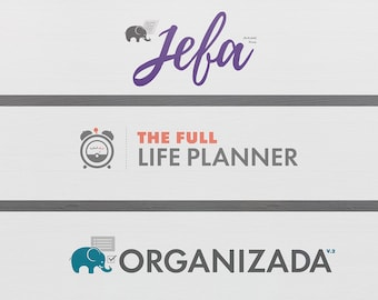 Organizada, Jefa & Full Life Planners Bundle Monthly Goals | Social Media Planning | Meal Planning | Budget | Income Tracking | Undated, 6x9