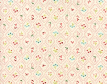 Home Sweet Home Pink and Cream Garden Cameo Wallpaper Yardage  SKU# 20576-11