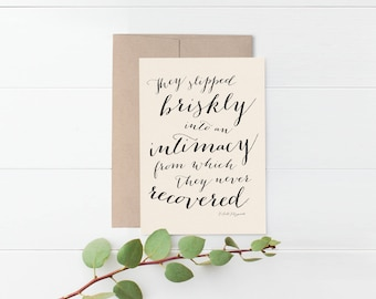 F. Scott Fitzgerald Romantic Greeting Card