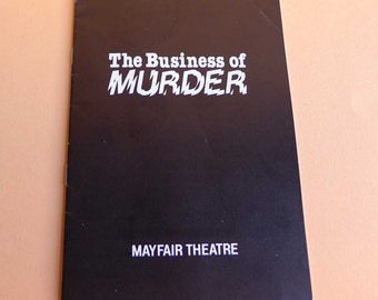The Business of Murder London Theatre Program 1985 Richard Todd Mayfair Theatre West End Richard Harris