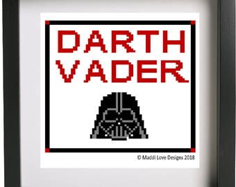 Star Wars Darth Vader Cross Stitch Pattern