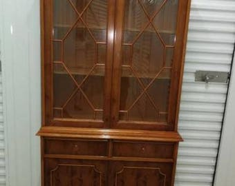 ' Yew wooden bookcase Topper very nice