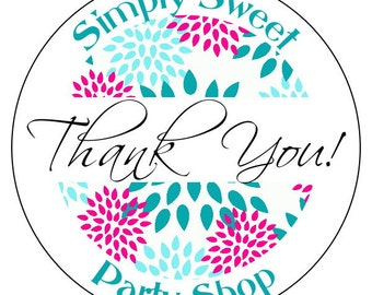 business thank you stickers, custom business stickers, 3 sizes available