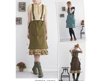 Simplicity Sewing Pattern 8438 Misses' Jumper with Suspenders and Petticoat