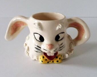 Vintage Rabbit/Bunny Ceramic Mug/Cup