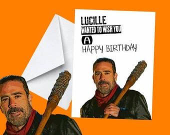 Negan Birthday Card - Digital Download