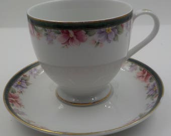 Vintage China Tea Cup and Saucer - Coffee Cup and saucer - Gorham - Made in Japan