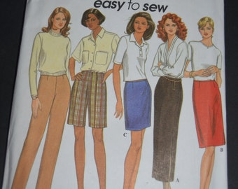Reserved - > Simplicity 8740  Misses Pants or Shorts and Skirt Sewing Pattern - UNCUT - Size Xs S M