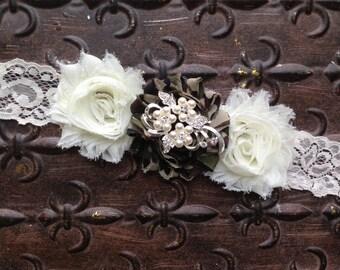 Camo Wedding Sash, Camo Bridal Sash, Ivory Wedding Sash, Camo Bridesmaid's Sash, Pearl Wedding Sash, Rhinestone Wedding Sash, Camo Sash