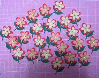 24 Decorative 3d Flowers