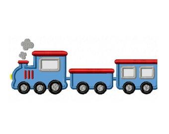Toy Train...Instant Download...Applique Machine Embroidery DESIGN NO. 152