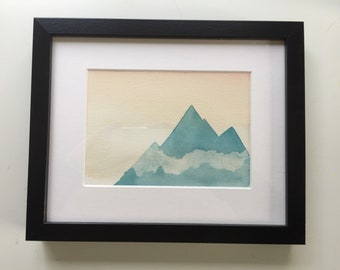 Wanderlust-Alaska original watercolor framed