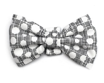 The Nostrand Bow Tie For Dogs - Dog Bow Tie, Brooklyn Bowtied, Bowtie, Black White, Graphic Pattern, Funky, Made In Brooklyn