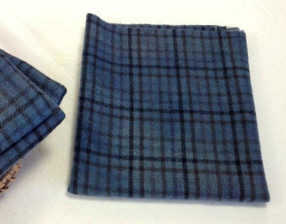 Fat 1/4 yard, Midnight Blue Skies, Hand Dyed Wool Fabric, Rug Hooking Wool, Applique Wool, W430, Dark Country Blue, Deep Waters Blue
