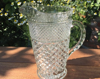 Vintage Glass Pitcher - Wexford by Anchor Hocking