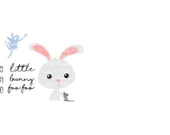 Little Bunny Foo Foo Easter Bunny SVG Cuttable Design File