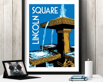 LINCOLN SQUARE Chicago Neighborhood Poster