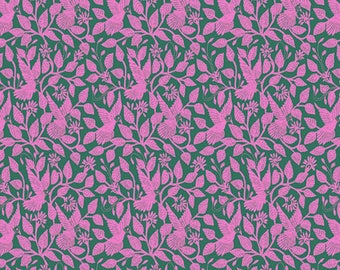 COTTON POPLIN - Amy Butler - Night Music - Stitched in Flight - Rose