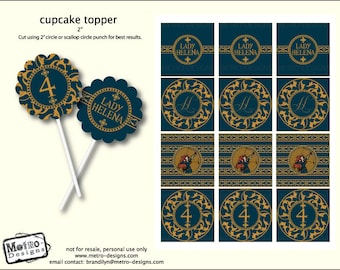 The Brave Favor Tags & Cupcake Toppers
