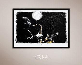 John Coltrane poster, by Fred Jourdain