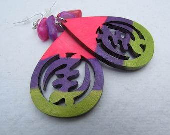 Gye Nyame African Symbol Earrings