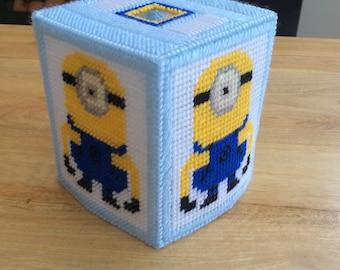 Minion tissue box cover