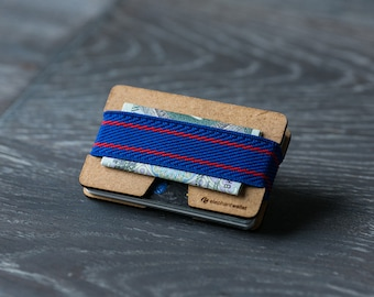 Wooden slim wallet, credit card wallet, women's and men's wallet, minimalist and slim wallet, modern design wallet,  N wallet