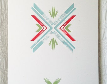 Folk Pattern 2 Screen Print