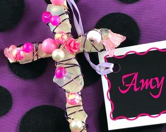 Pink & Purple Cross
