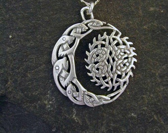 Sterling Silver Celtic Fisherman Pendant on a Sterling Silver Chain
