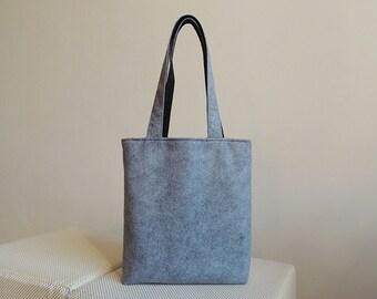 Grey Wool Felt Tote Bag - New York Tote Bag
