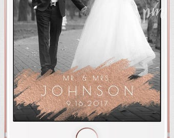 Rose Gold Foil Wedding Geofilter, Rose Gold Snapchat Geofilter, Snapchat Filter, Custom Geofilter, Rose Gold Foil Wedding Snapchat Filter