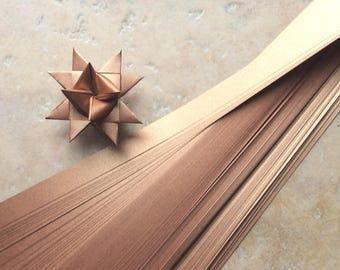 Paper Strips to make 3D Stars (Moravian Froebel Quilling Weaving) Copper Sheen 3/4 in wide