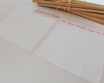 95 sachet emballage plastique transparent à fermeture adhésive - 4 dimensions