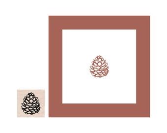 Mini Pinecone Rubber Stamp