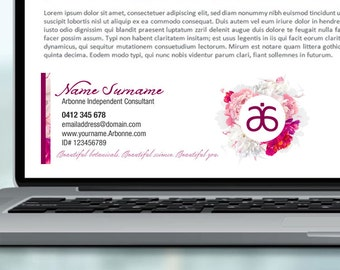 Arbonne Email Signature Banner 05 - personalised digital file