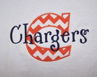 Chevron Mascot Team School Shirt Chevron School Spirit Shirt