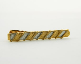 Gold and Silver Rope Tie Clip