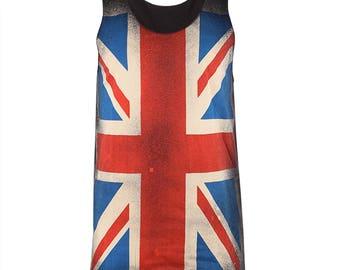 Union Jack British Flag T Shirt Tank Tops Men Women M