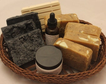 Frankincense and Myrrh Men's Natural Bathing Gift Set/Unique Natural Men's Frankincense and Myrrh Gift Set/Gift for him/Father's Day Gift