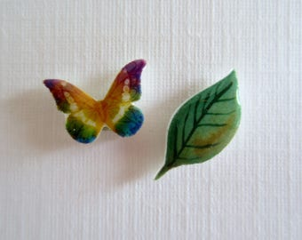 Butterflies and Leaves-Little Studs