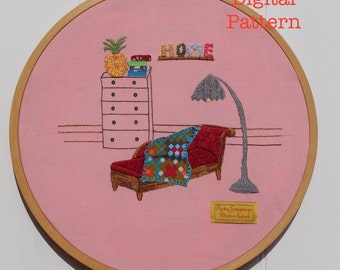 The Chair Quartet Digital Embroidery Pattern No. 3