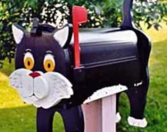 Cat mailboxes - Black Cat mailbox